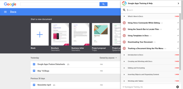 Synergyse pada Google Docs