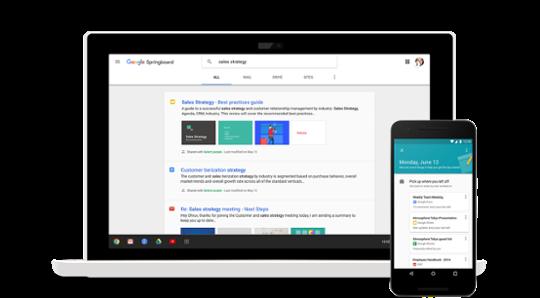 Google Springboard membantu Anda mencari informasi yang diperlukan