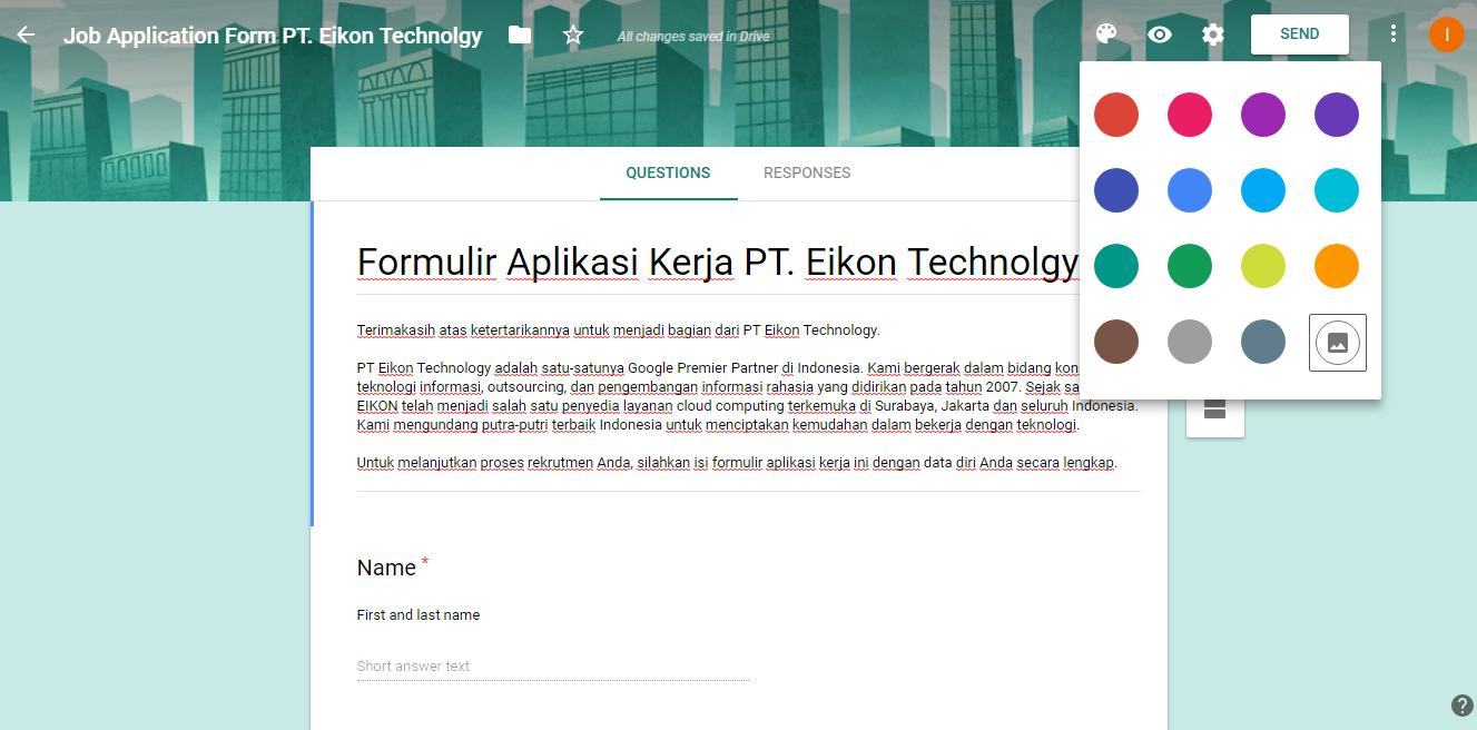 Cara Membuat Formulir Aplikasi Kerja Online Dengan Google Form