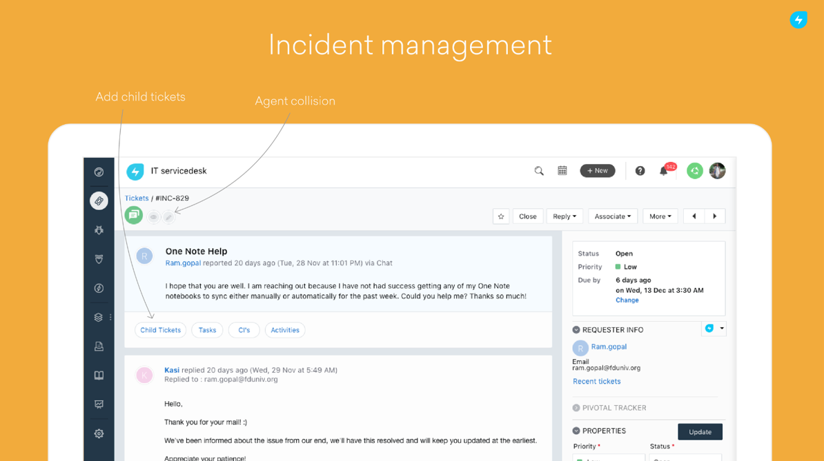 incident management freshservice